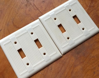 Vintage Double Light Switch Cover.