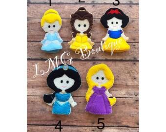 Princess Finger Puppets, Princess puppets set, Girls finger puppets, Princesses finger puppets