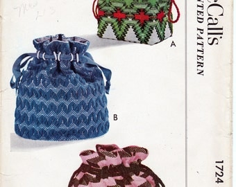 1724 McCalls Three drawstring bags