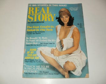Vintage Real Story Magazine May 1975 - Campy  Spicy Stories - Hair Styles Paper Retro 1970s