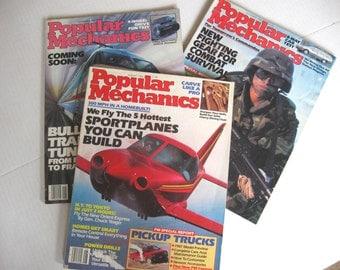 Vintage Popular Mechanics Magazines - August 1986 - September 1986 - December 1986