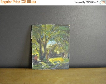 30% off SALE Once Upon a Tree - Vintage Landscape Painting