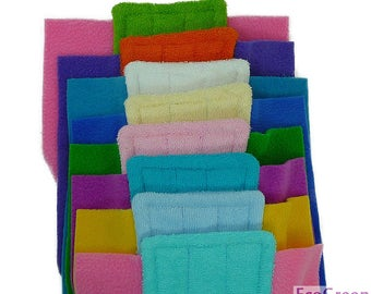 8 TERRY & TERRY Swiffer mop pads, Reusable Swiffer mopping pads, Washable Swiffer Sweeper mop Pads EcoGreen Pads. Both Sides are Terry Cloth