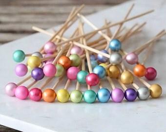 Unicorn Lollipop Sticks, Unicorn Party Cake Pops Sticks, Marshmallow Pop Sticks, Rock Candy Sticks, Wooden Lollipop Sticks, Rainbow Party