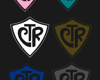 8 CTR shield vinyl decals 3x3 or 5x5 inches Free Shipping!