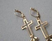ON SALE ON Sale Chic Boho Dangle Cross Earrings. Mod Hippie Open Frame Cross Gift Earrings. Zen appeal. Southwestern Mexico Wedding. Gift