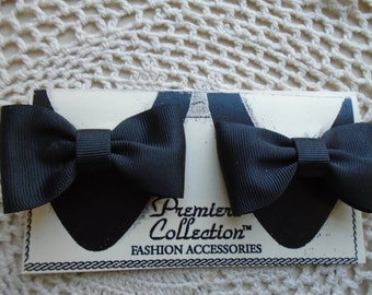 Shoe Clips  Black Grosgrain Bow Tie Type Bows FREE SHIPPING