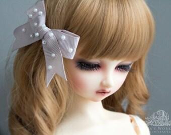 lolita bow hairpin for Super Dollfie SD Feeple Volks Luts Soom Fairyland Latidoll Limhwa Supiadoll DIM