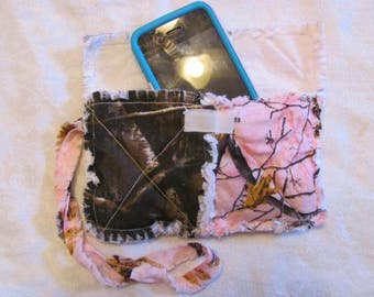 Pink Realtree Camo and Realtree Camo Clutch bag Pink camo Cell Phone Case  Pink Camo Wristlet Gift for Girls Gift For Her