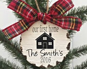 Personalized Our First Home Christmas Ornament // First Christmas Ornaments // Christmas Gifts // Wedding Gifts // 2016 Mr. & Mrs.  Ornament