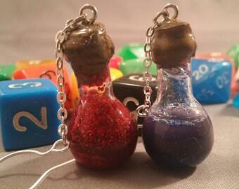 Mana and Healing Potion Dangle Earrings