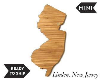 On Sale! MINI New Jersey State Cutting Board, , Father's Day Gift, Unique Wedding Gift, Personalized Gift, Graduation Gift