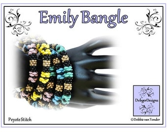 Beading Pattern, Tutorial, bangle - EMILY