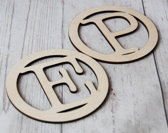 Personalised Wedding Favours ~ Wooden Favours coaster ~ Wedding Gift ~ Personalised ~ Rustic ~ Cut out ~ Guests initial