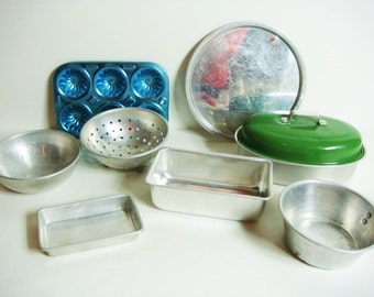 Toy Aluminum Cookware Pretend Dishes Toy Dishes