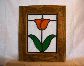 Peach Tulip Window #6