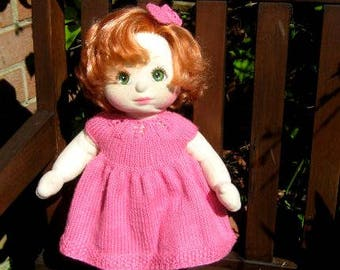 Knitting Pattern for MY CHILD DOLL or similar - Party Dress and matching Bow CR125