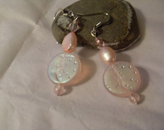 Pretty pink dangle earrings