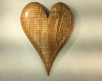 Wooden Valentine gift Heart Wood Carving Home Decor Wall Hanging by Gary Burns the treewiz