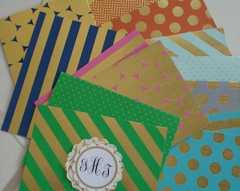 Gold Foil and Color   Six in Set