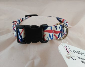 Red White and Blue Collar, Patriotic Dog Collar, 4th of July Dog Collar, Cat Collar, Dog Collars, Cat Collars