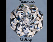 Reserved for Loralee Silver Bezel setting for 8MM Trillion Ametrine