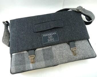 """Mens Messenger Bag, Mens Gift Womens laptop Messenger Bag , 15""""  Macbook Pro Laptop Sleeve, tote bag, Upcycled bag"""