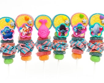 Trolls themed Candy Kabobs - 24