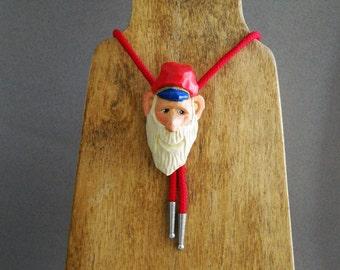 Santa bolo tie for Christmas