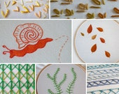 Hand Embroidery Step by Step Stitch Tutorials Digital PDF - Instant Download