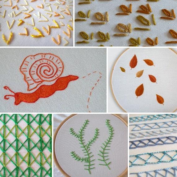 Hand embroidery step by stitch tutorials digital pdf
