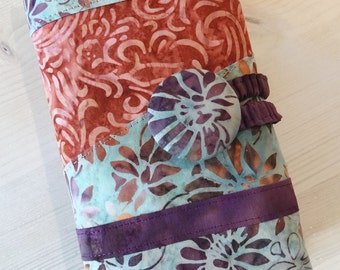 Batik Spill Proof Combo Interchangeable Cable DPN Knitting Needle Case Organizer Blue Purple Coral Olive Green - Made to Order
