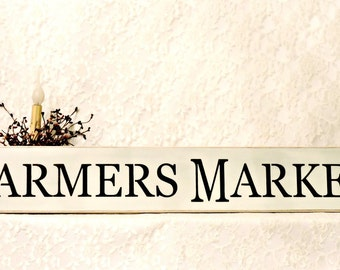 Farmers Market - Primitive Country Painted Wall Sign, Farmers Market sign, Farmhouse Decor, Housewarming gift, New Home Gift, Ready to Ship