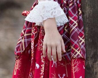 Girls Shirt Pattern, Girls Sewing Pattern, Easy Top Sewing Pattern, Layering Shirt, Petal Sleeve, Easy Layering Top, Lacey Layering Top