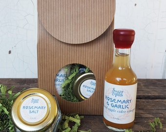 Rosemary and Garlic salt and vinegar gift set