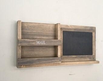 Mail Organizer Chalkboard, Homework Organizer, Mailbox, Mail Holders, Chalkboard, Rustic Decor, Family Command Center, Mail Holder
