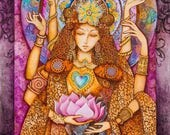QUAN YIN - Goddess of Compassion Canvas Print (8x12)