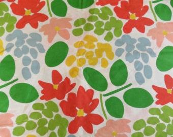 Vintage Designer French Fabric JULIETTE Romanex de Boussac  Saint Freres Large Floral Print 7.9 yards