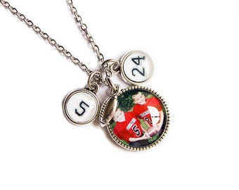 Photo Pendant Necklace / Photo Charm Necklace / Photo Jewelry / Football Mom Jewelry / Football Mom Necklace / Football Mom Gift