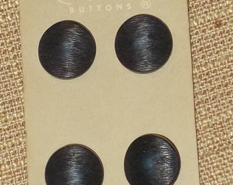 Textured Dark Blue Buttons Vintage Buttons on Card La Mode Made in Italy