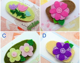 Handmade felt snap hair clip (FC- Group 5)