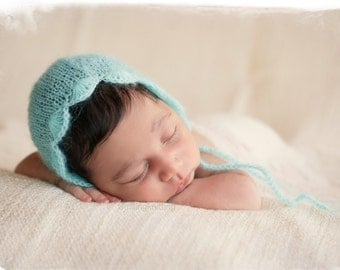 Newborn Photo Prop, Baby Knit Hat, Baby Bonnet, Newborn Baby, Baby boy Hat, Newborn Photo