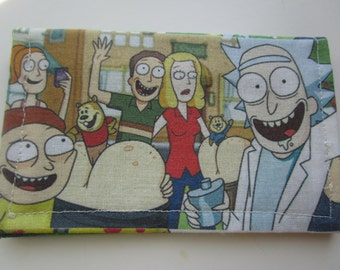 Rick and Morty, Rick Sanchez, Morty Smith, Birdperson, Meeseeks, Plumbus, Schmeckles, Mad Scientist, Card Wallet, Buisness Card Wallet