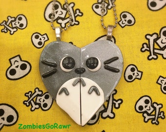 Kawaii Cute Totoro Inspired Best Friend BFF Necklace