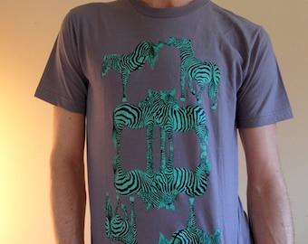 Zebra Love Hate Unisex/ Men's T-Shirt