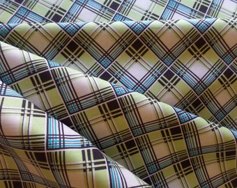 Denyse Schmidt Fabric, Ansonia Corner Plaid, Mossy PWDS065.MOSSY