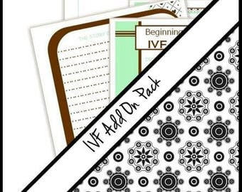IVF add on pages for your JaDazzles Baby Memory Book ..... Journal page