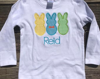 Easter bunny Shirt - Boys Easter  Shirt - Easter Applique Shirt - Boys personalized Shirt - Easter