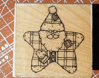 Santa's Star Rubber Stamp by DOTS