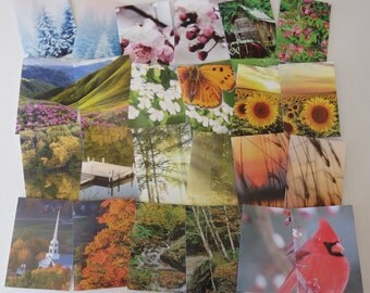 12 Months Of Cards, 24 Handmade Cards, Blank Cards, Monthly Cards, Card Set.